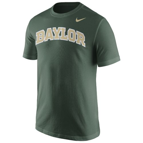 Nike™ Men's Baylor University Cotton Short Sleeve Wordmark T-shirt