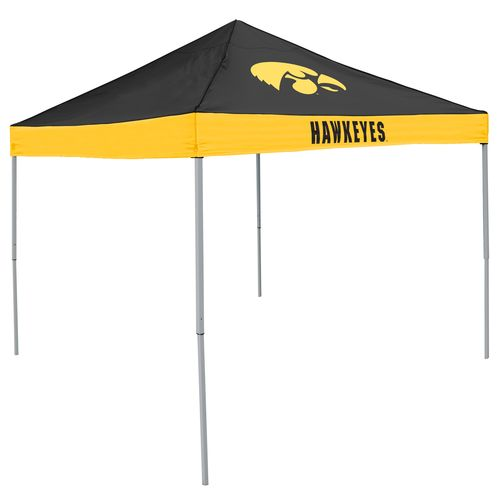 Logo University of Iowa Straight-Leg 9 ft x 9 ft Economy Tent