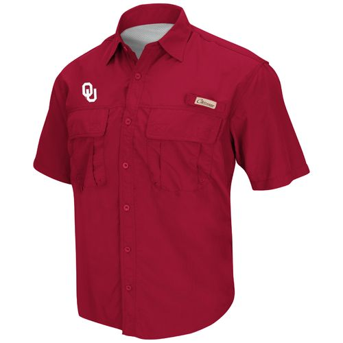 Colosseum Athletics Men's University of Oklahoma Swivel Fishing Shirt
