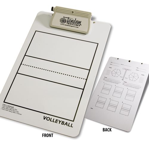 Tandem Sport Coaches' Deluxe Volleyball Clipboard