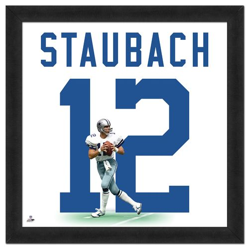 Photo File Dallas Cowboys Roger Staubach #12 UniFrame 20' x 20' Framed Photo