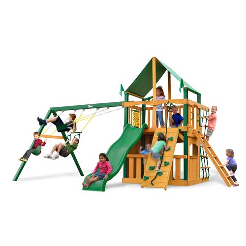 Gorilla Playsets™ Chateau Swing Set With Timber Shield™ And Deluxe Vinyl  Canopy