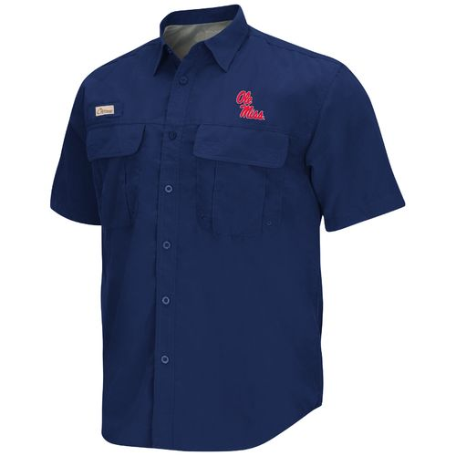 Colosseum Athletics Men's University of Mississippi Swivel Fishing Shirt