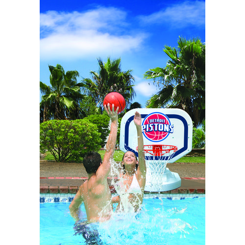 Poolmaster® Detroit Pistons Competition Style Poolside Basketball Game - view number 2