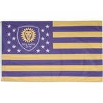 WinCraft Orlando City SC 3'H x 5'W Deluxe Stars and Stripes Flag