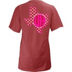 Three Squared Juniors' University of Houston Quatrefoil State Monogram T-shirt