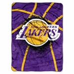 The Northwest Company Los Angeles Lakers Shadow Play Super Plush Throw