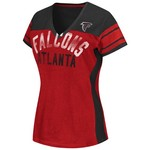 G-III for Her Women's Atlanta Falcons Wild Card Mesh V-neck T-shirt
