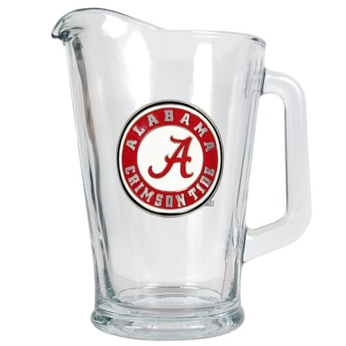 Great American Products University of Alabama 1/2-Gallon Glass Pitcher