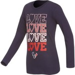 NFL Girls' Houston Texans Emphatically Long Sleeve T-shirt