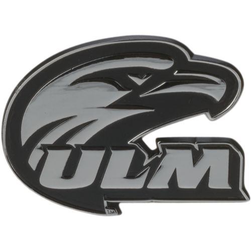 Stockdale University of Louisiana at Monroe Chrome Freeform Auto Emblem