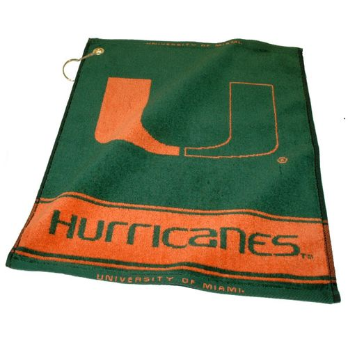 Team Golf University of Miami Woven Towel