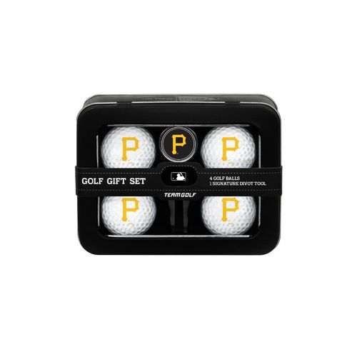 Team Golf Pittsburgh Pirates 4-Ball Tin Gift Set