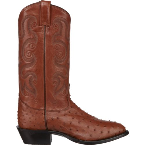 Tony Lama Men's Peanut Brittle Exotics Ostrich Western Boots - view number 1