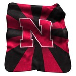 Logo University of Nebraska Raschel Throw