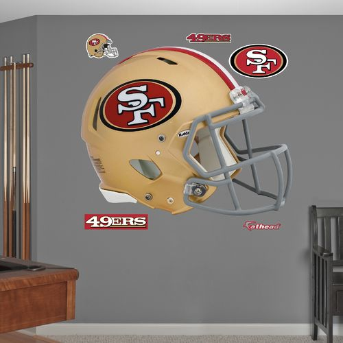 Fathead San Francisco 49ers Real Big Helmet Decal - view number 1