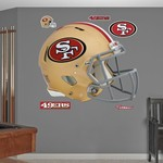 Fathead San Francisco 49ers Real Big Helmet Decal