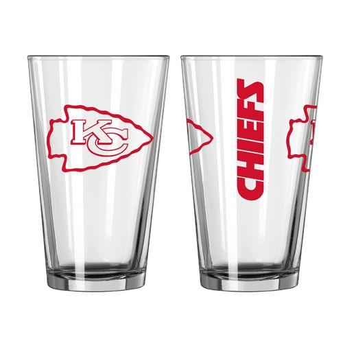 Boelter Brands Kansas City Chiefs Game Day 16 oz. Pint Glasses 2-Pack