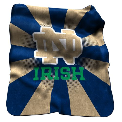 Logo™ University of Notre Dame Raschel Throw