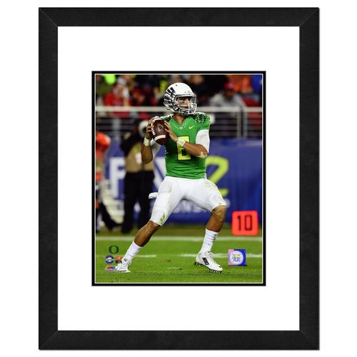 "Photo File University of Oregon Marcus Mariota 16"" x 20"" Matted and Framed Photo"