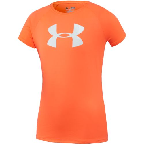 Under Armour Girls' Big Logo Tech T-shirt