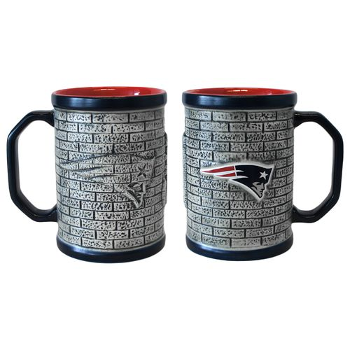 Boelter Brands New England Patriots Stone Wall 15 oz. Coffee Mugs 2-Pack