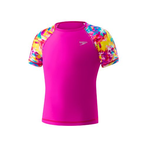 Speedo Girls' Printed Sleeve Rash Guard