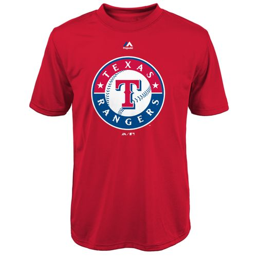 Majestic Boys' Texas Rangers Primary Logo T-shirt