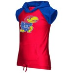 Colosseum Athletics Girls' University of Kansas Jewel Short Sleeve Hoodie