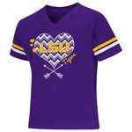 Colosseum Athletics Girls' Louisiana State University Football Fan T-shirt