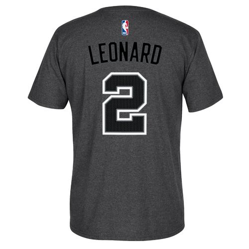 adidas™ Men's San Antonio Spurs Kawhi Leonard #2 Game Time High Density T-shirt