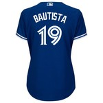 Majestic Women's Toronto Blue Jays José Bautista #19 Cool Base Replica Jersey - view number 1