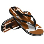 Forever Collectibles™ Kids' University of Texas Wordmark Stripe Flip-Flops