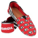 Forever Collectibles™ Women's University of Georgia Canvas Stripe Shoes