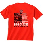 New World Graphics Men's University of Louisiana at Lafayette Schedule T-shirt