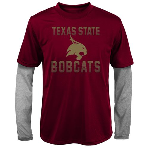 Gen2 Kids' Texas State University Bleachers Double Layer Long Sleeve T-shirt