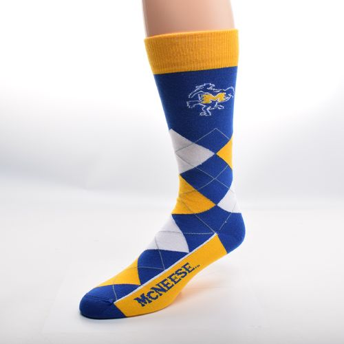 FBF Originals Adults' McNeese State University Team Pride Flag Top Dress Socks