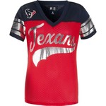 G-III for Her Women's Houston Texans Pass Rush Mesh Top