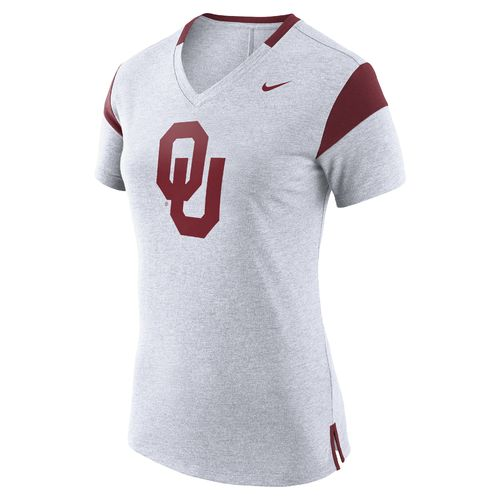 Nike Women's University of Oklahoma Fan V Top T-shirt - view number 1