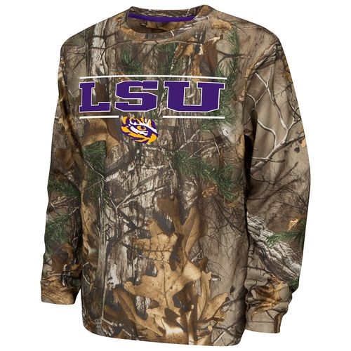 Colosseum Athletics™ Boys' Louisiana State University Pointer Long Sleeve Camo Shirt