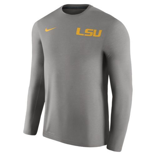Nike Men's Louisiana State University Dry Top Coaches Long Sleeve T-shirt