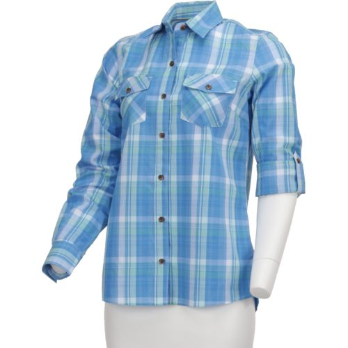 Display product reviews for Magellan Outdoors Women's Cute Catch Long Sleeve Roll Up Plaid Fishing Top