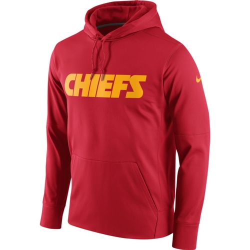 Nike Men's Kansas City Chiefs Perf Circuit Wordmark Essential Hoodie