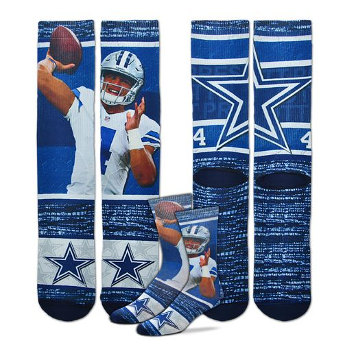 FBF Originals Men's Dak Prescott Dallas Cowboys Flashback Sublimated Socks
