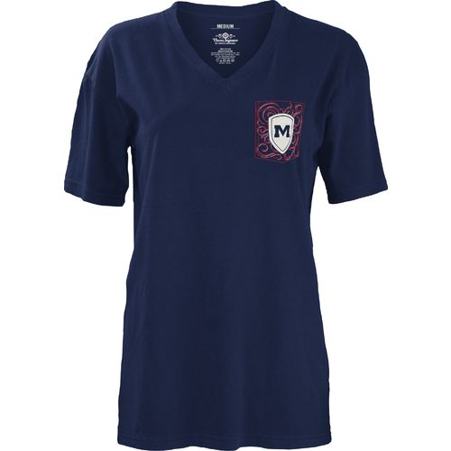 Three Squared Juniors' University of Mississippi Anchor Flourish V-neck T-shirt - view number 2