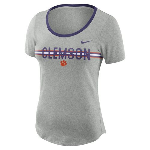 Nike™ Women's Clemson University Dry Strike Slub T-shirt