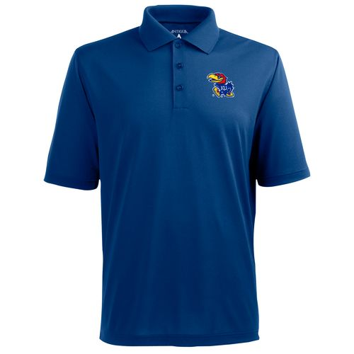 Antigua Men's University of Kansas Pique Xtra-Lite Polo Shirt - view number 1