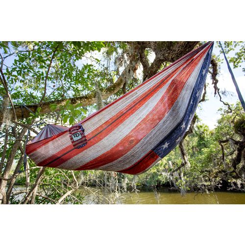 Twisted Root Design Twisted Print USA Wood Flag Hammock - view number 5