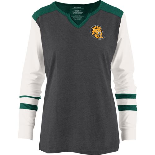 Three Squared Juniors' Southeastern Louisiana University Mia Raglan Long Sleeve Henley Shirt
