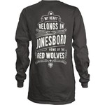 Three Squared Juniors' Arkansas State University Tower Long Sleeve T-shirt - view number 1
